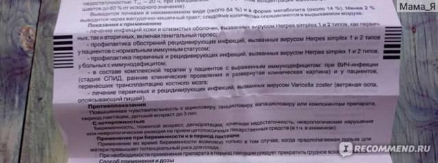Ацикловир 200 мг - противовирусное средство от герпеса. инструкция