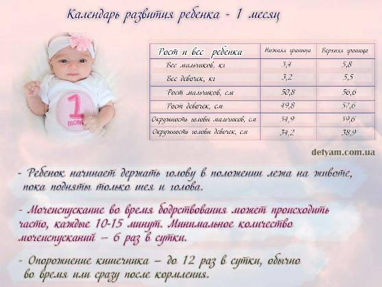 Ребенку 1 месяц – первый месяц жизни новорожденного, развитие ребенка. что умеет ребенок в 1 месяц?