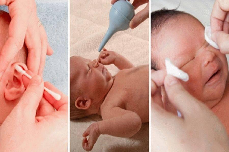 Как чистить уши новорожденному ребенку, статья с видео