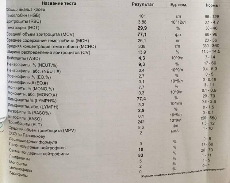 Общий анализ крови – расшифровка показателей оак | клиника лоритом