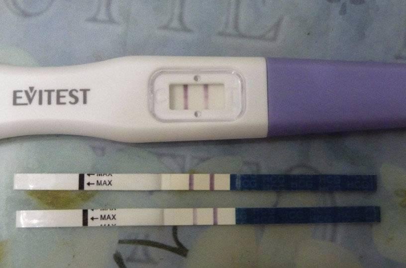 Может ли тест на беременность показать две полоски перед месячными?