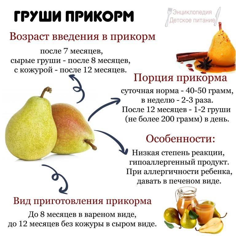 Пюре из груши для грудничка: рецепт