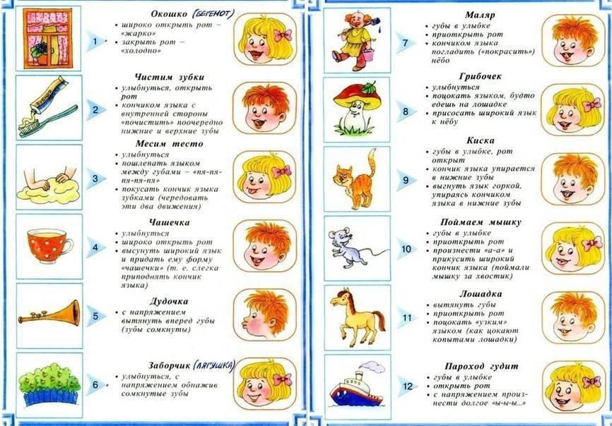 Артикуляционная гимнастика для детей 3-4 лет