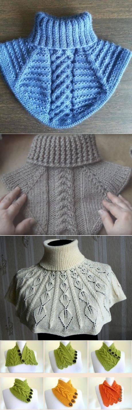 Описание вязания моей манишки