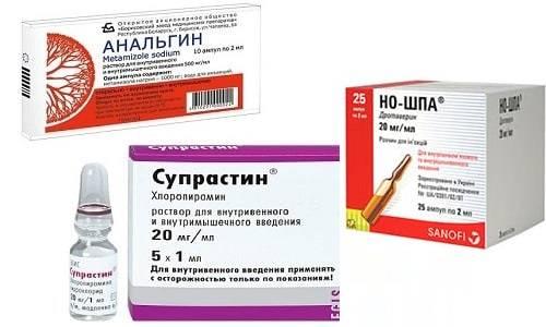 Анальгин, но шпа и супрастин от температуры: дозировки