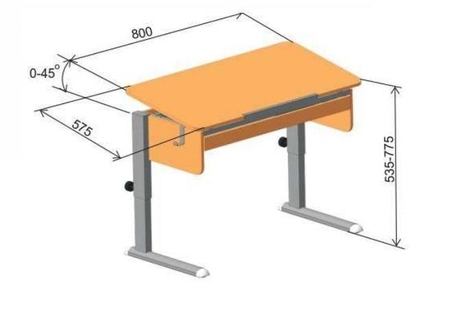 Стол для первоклассника: учитываем размеры, ширину столешницы, удобство