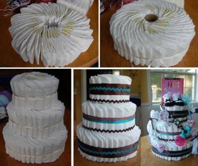 Торт из памперсов своими руками, мастер-классы, идеи с фото