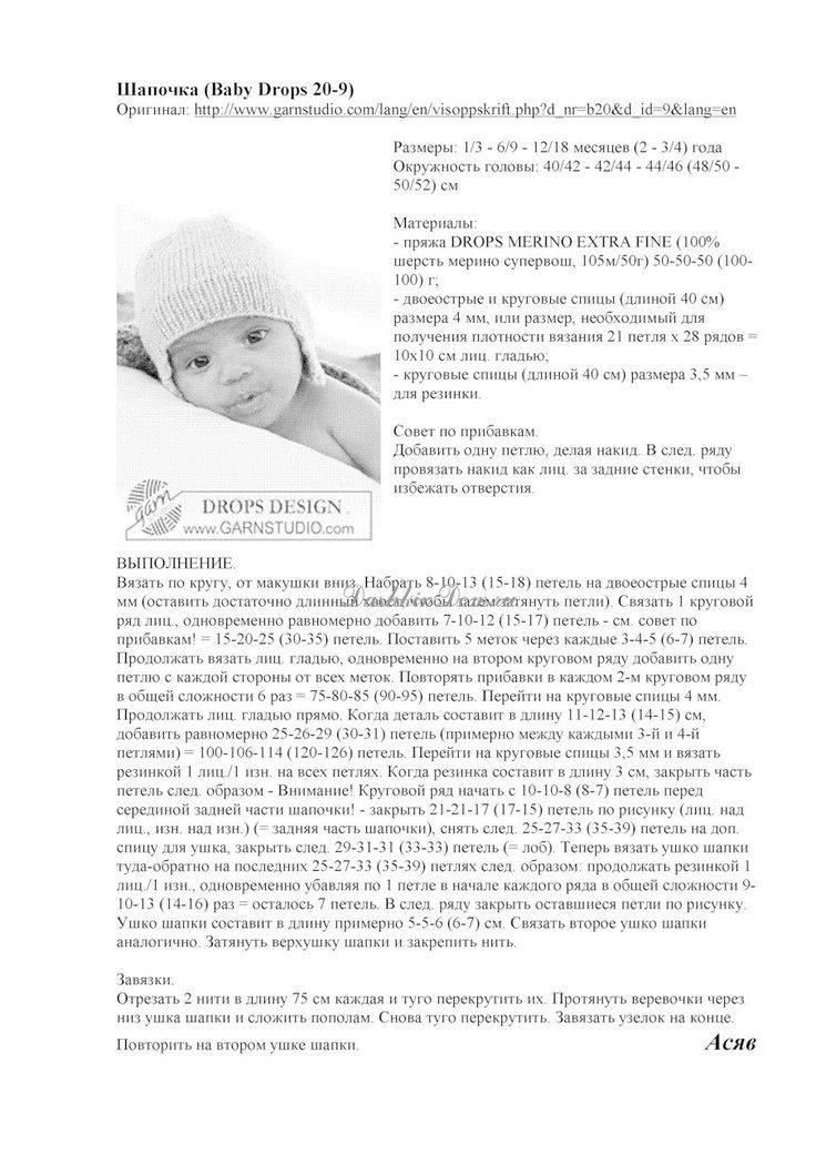 Чепчик для новорожденного спицами - подробное описание схемы вязания для начинающих