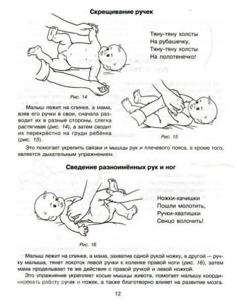 Гимнастические упражнения и массаж детей от 6 до 9 месяцев