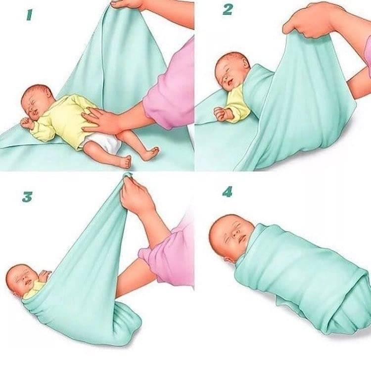 Как пеленать новорожденного: инструкция и полезные советы