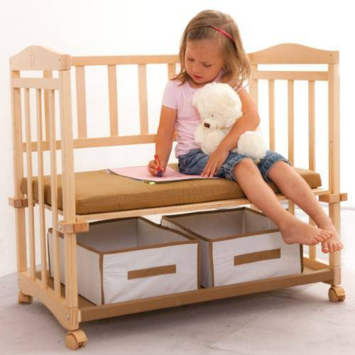 Кроватка для новорожденного своими руками, чертежи фото