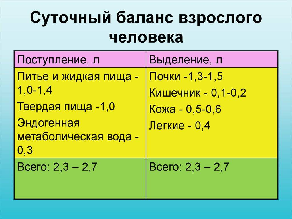 Cуточный диурез при беременности - таблица норм и нарушений, пример расчета