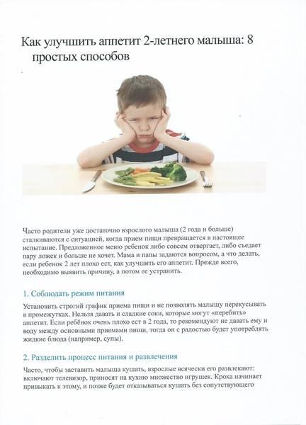 Плохой аппетит у ребенка.
