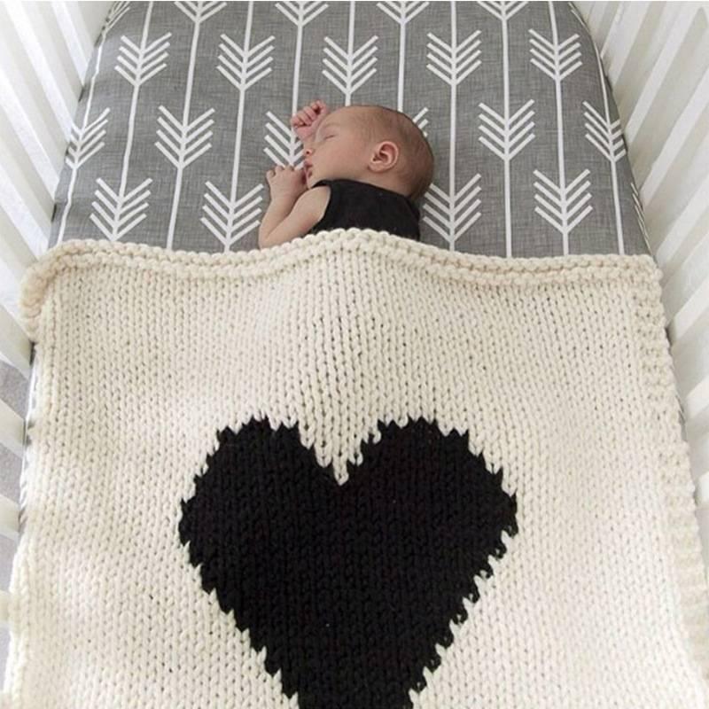Вязаные одеяла для новорожденных - строй-шпаргалка