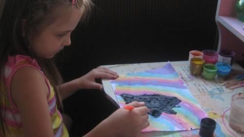 Значение черного в рисунках детей