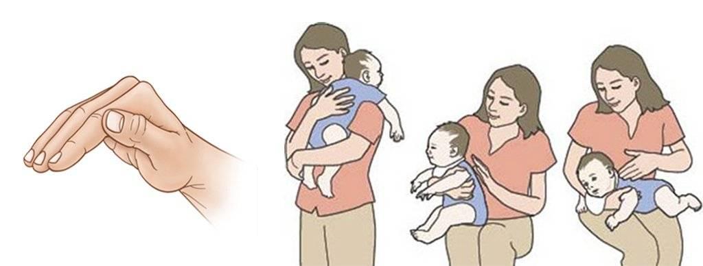 Как держать новорожденного столбиком: сколько, правильно после кормления