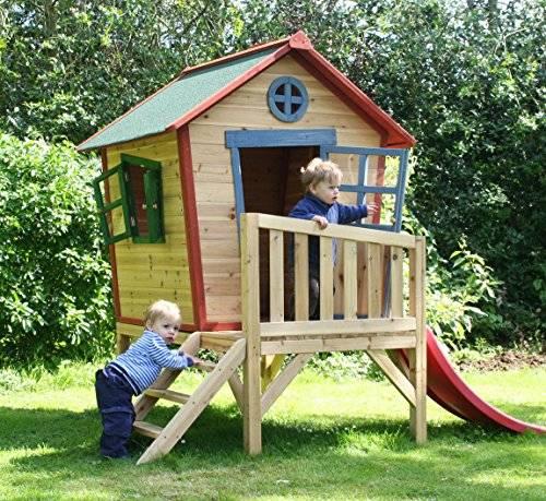Домик для детей на даче своими руками (27 фото): идеи и чертежи детских домов. как построить дачный домик из дерева и чем покрасить?