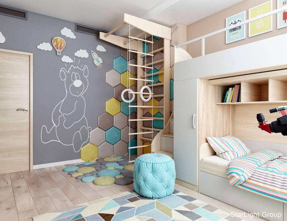 Детская комната для мальчика и девочки. 100 фото и идеи по оформлению