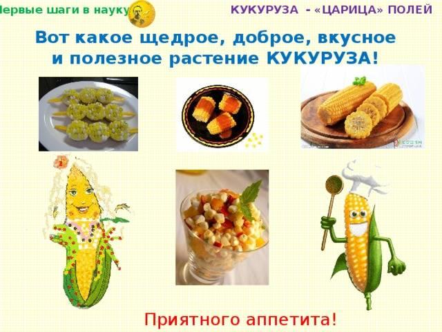 Когда можно давать ребенку кукурузу