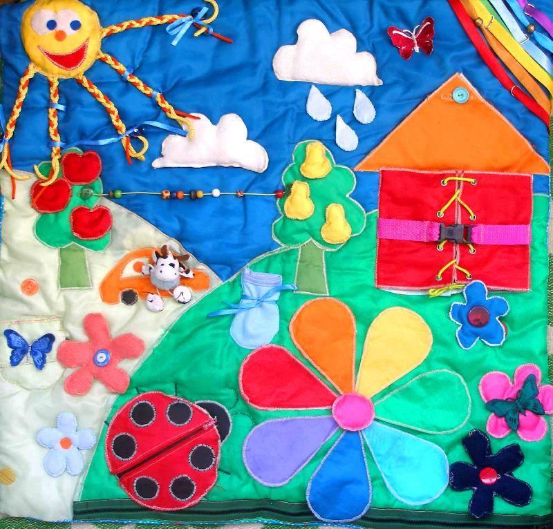 Самостоятельное изготовление детского развивающего коврика