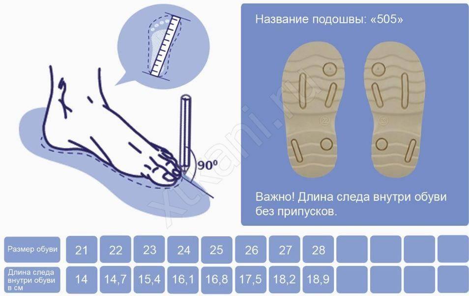 Как правильно выбрать размер обуви ребенку?