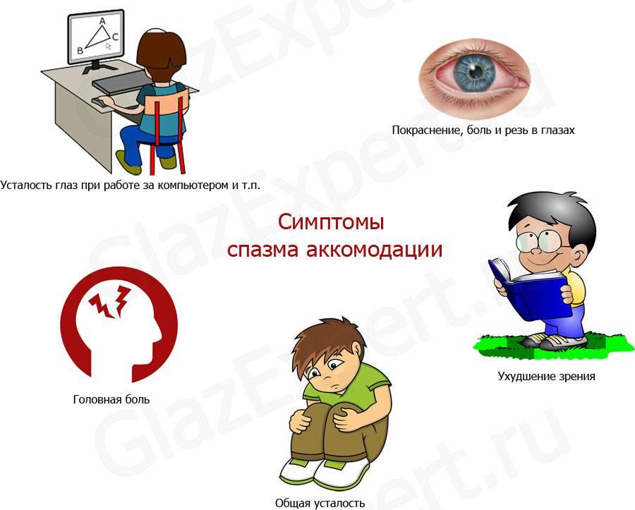 Ложная близорукость. спазм аккомодации – сахалинский центр микрохирургии глаза