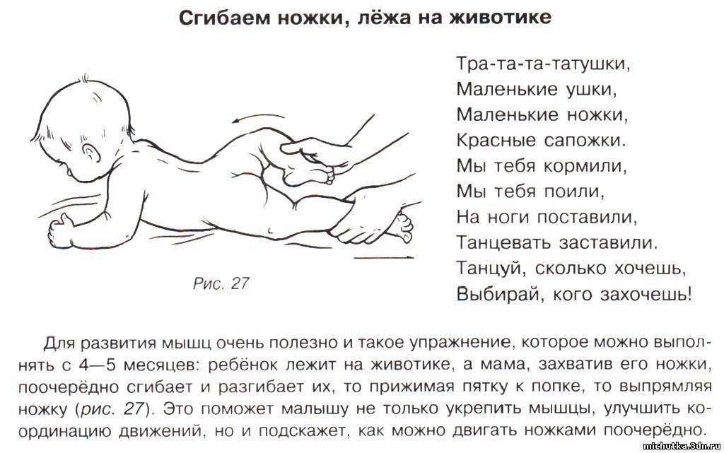 Приемы и техники массажа для грудничков в домашних условиях