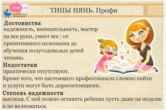 Няня для ребенка — как выбрать? какие бывают няни: виды. как и где найти няню для ребенка?