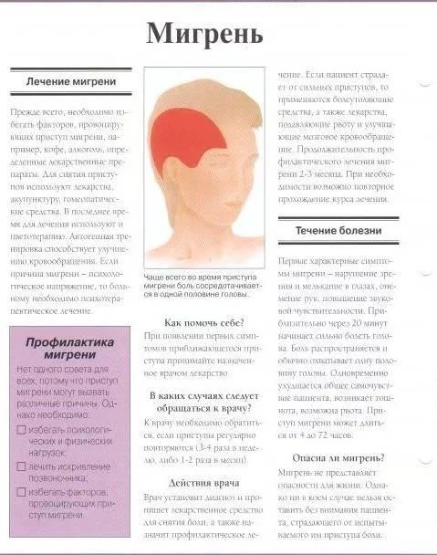 Лечение приступов и профилактика мигрени