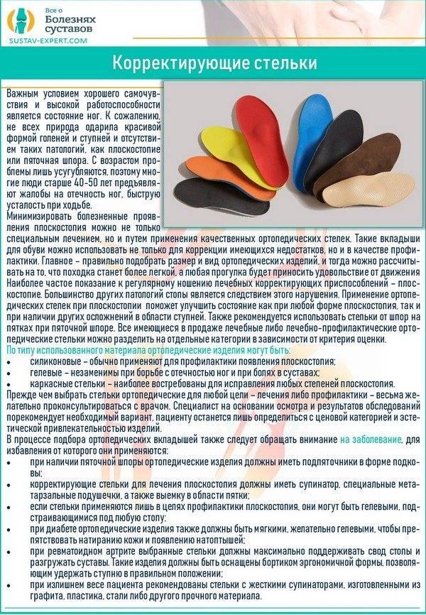 Стельки супинаторы при плоскостопии