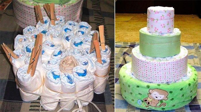 Подарок маме и малышу: торт из памперсов своими руками подарок маме и малышу: торт из памперсов своими руками
