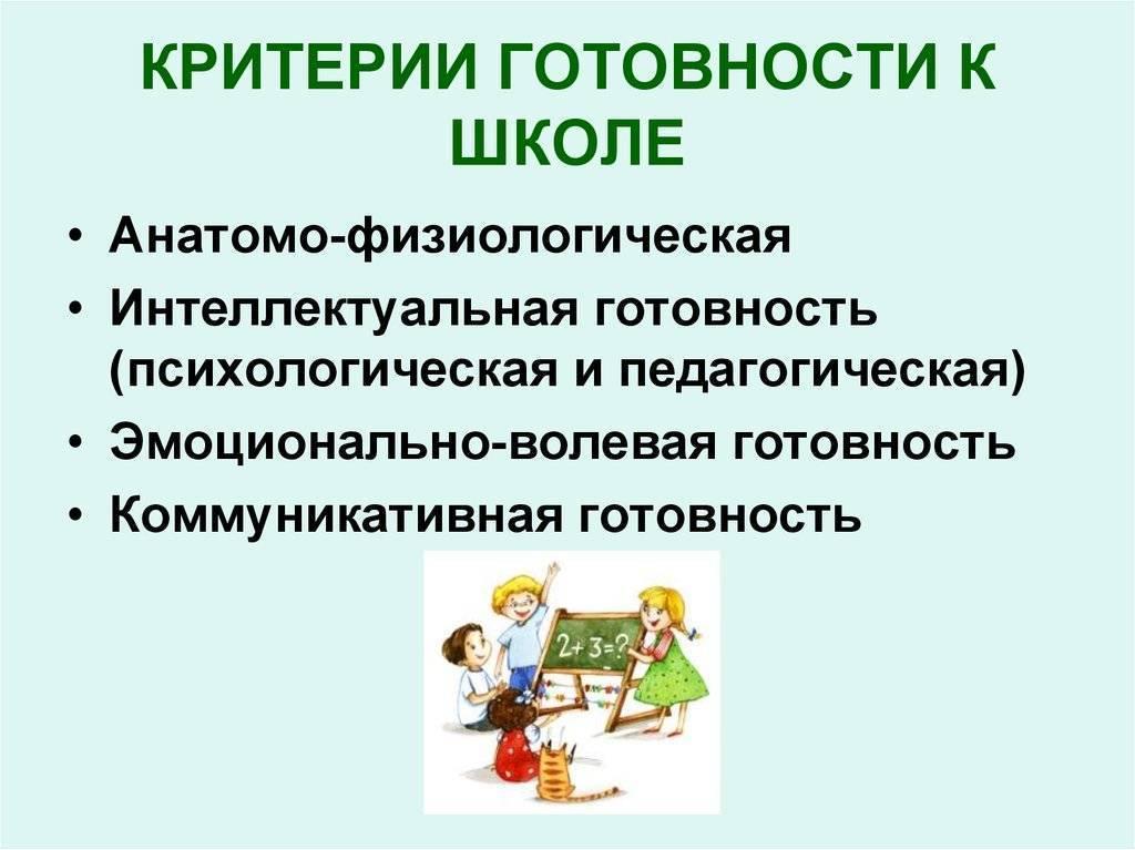 Готовность к школе: компоненты готовности к школьному обучению