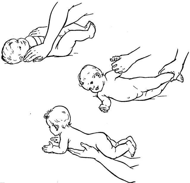 Как научить грудничка переворачиваться на спину? специальный комплекс упражнений