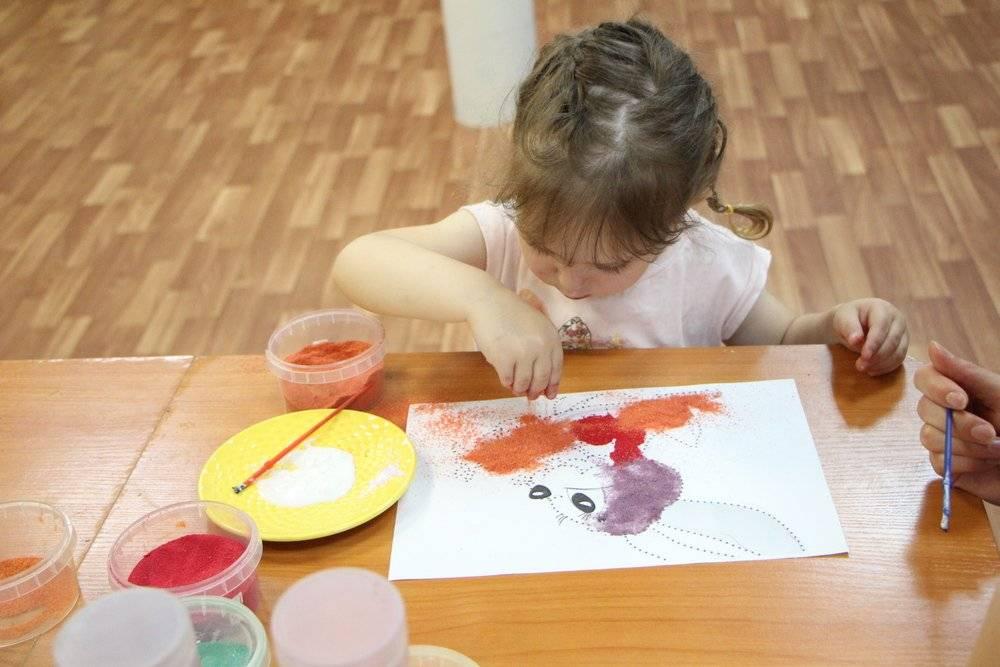Рисование цветным песком для детей - польза правила и способы составления рисунка