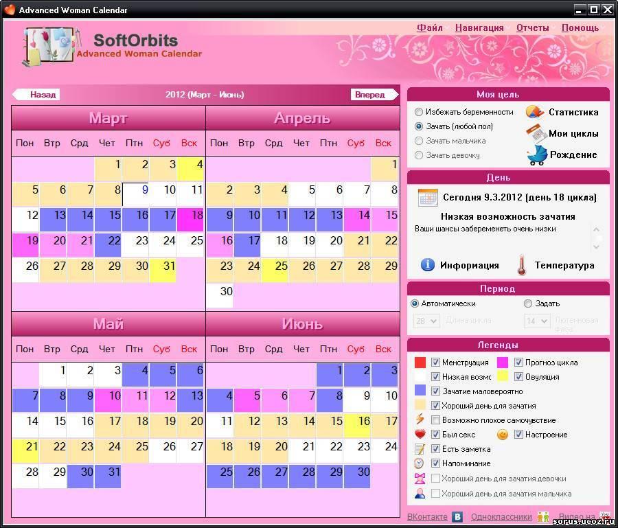Календарь овуляции — рассчитать день зачатия с помощью онлайн калькулятора (календаря овуляции) — medmir.net