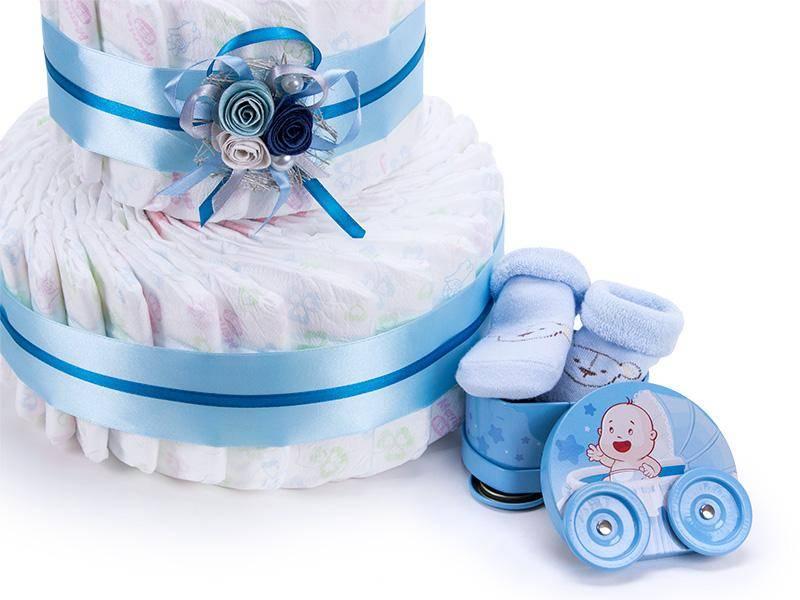 Готовим торт из памперсов своими руками: пошаговый мастер-класс как сложить подарок для новорожденных (100 фото)