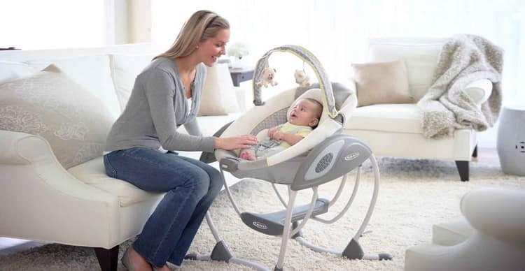 Электронные качели для новорожденных (95 фото): детские электрические качели и отзывы, какие лучше для детей