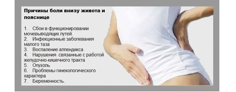 Болит спина в области поясницы и тянет низ живота: что делать, как лечить