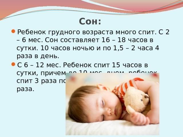 Особенности нарушений сна у детей в грудном возрасте