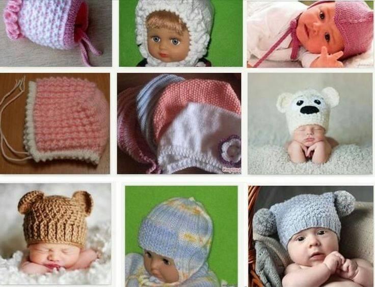 Выбор шапки для новорожденных по возрасту: шапочки для девочек и мальчиков до года
