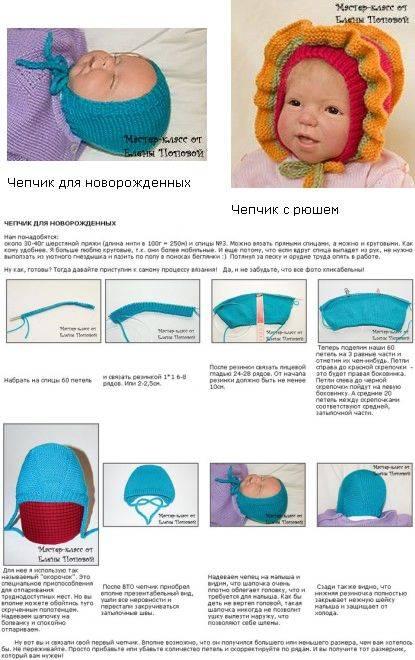 Шапочка для новорожденного спицами (110 фото): схемы с описанием мастер классов пошагово