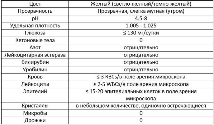 Анализ мочи расшифровка у детей   1analiz.ru
