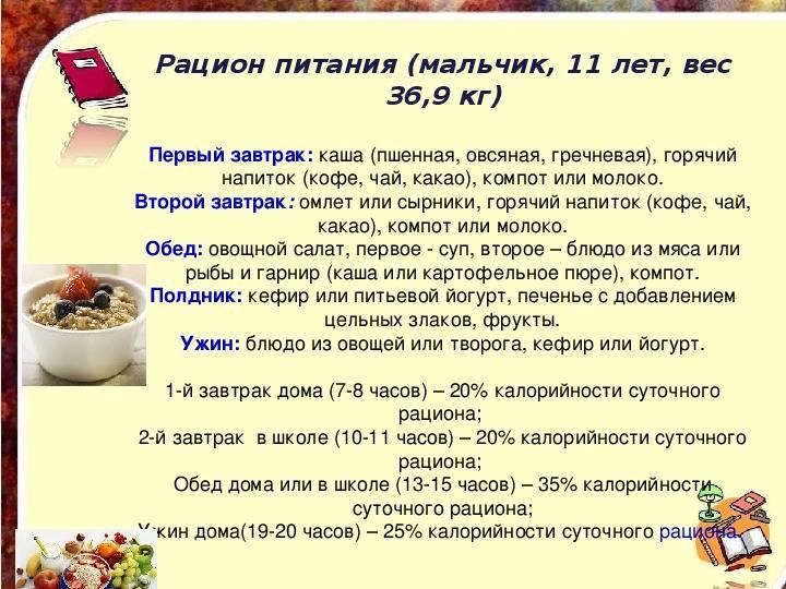 Детская диета: меню для похудения - allslim.ru