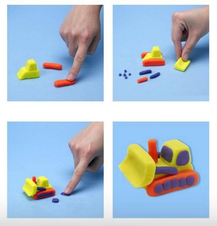 Поделки из пластилина для детей 2-4 лет своими руками (125 фото + инструкция)