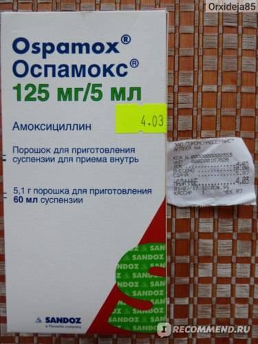 Оспамокс: инструкция по применению, цена, отзывы для детей - medside.ru