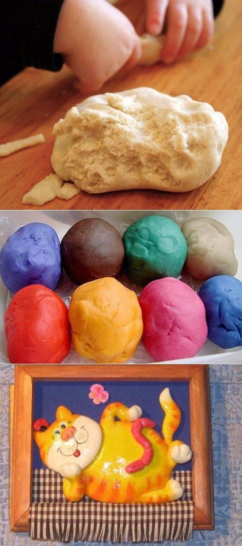 Соленое тесто для лепки. рецепты для детей. поделки с фото