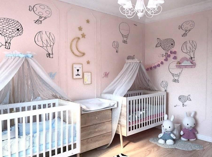 Как интересно оформить детскую комнату для мальчика и девочки