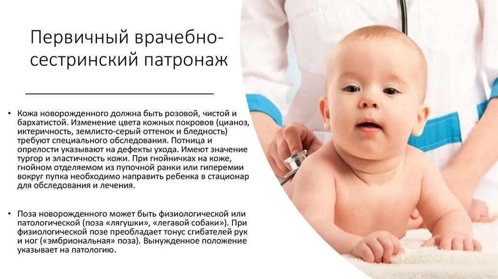 Патронаж детей до года медсестрой образец - правовая помощь