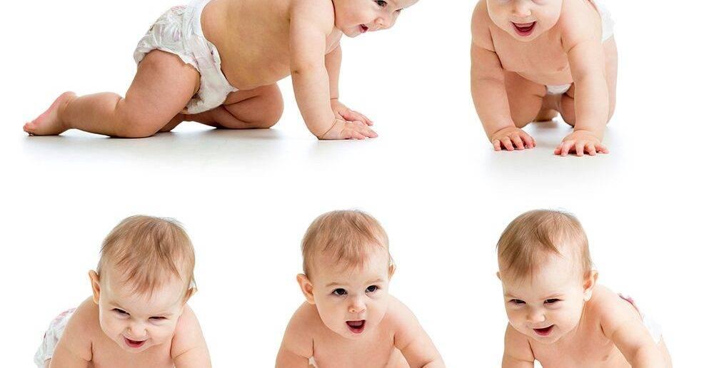 Как научить ребенка ползать в 5–6 месяцев: упражнения для ползания