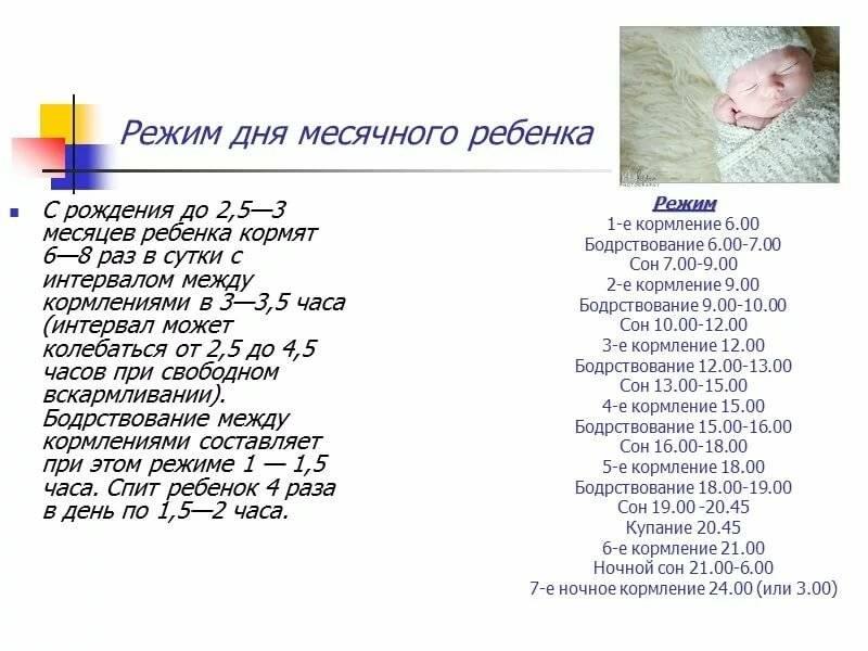 Режим сна ребенка до года по месяцам: распорядок новорожденного и малыша постарше